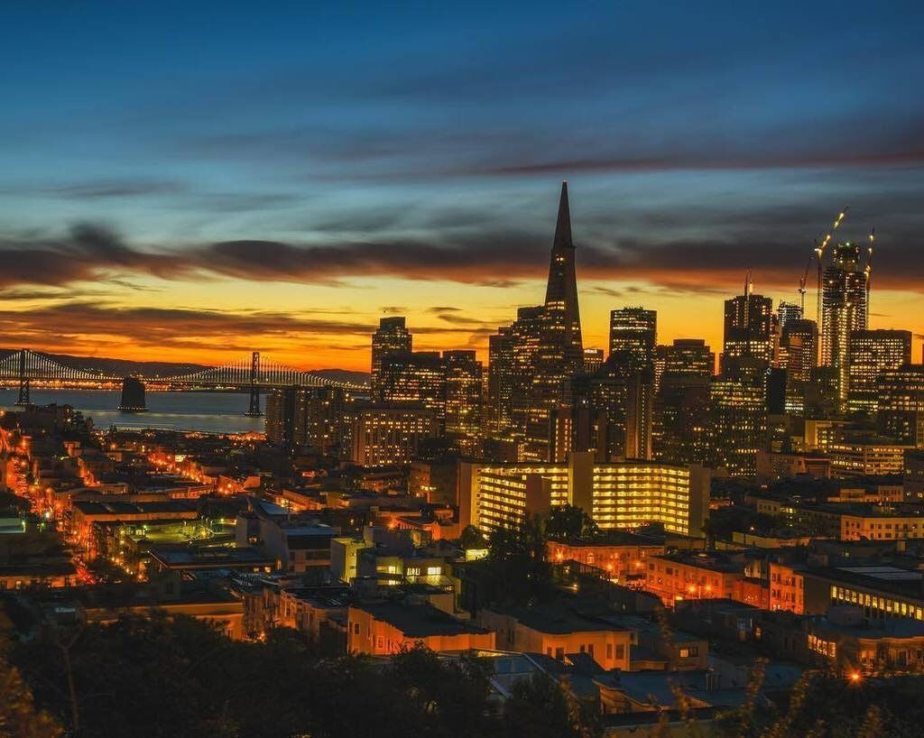San Francisco sunrise #sanfrancisco #sf #bayarea #alwayssf #goldengatebridge #goldengate #alcatraz #california