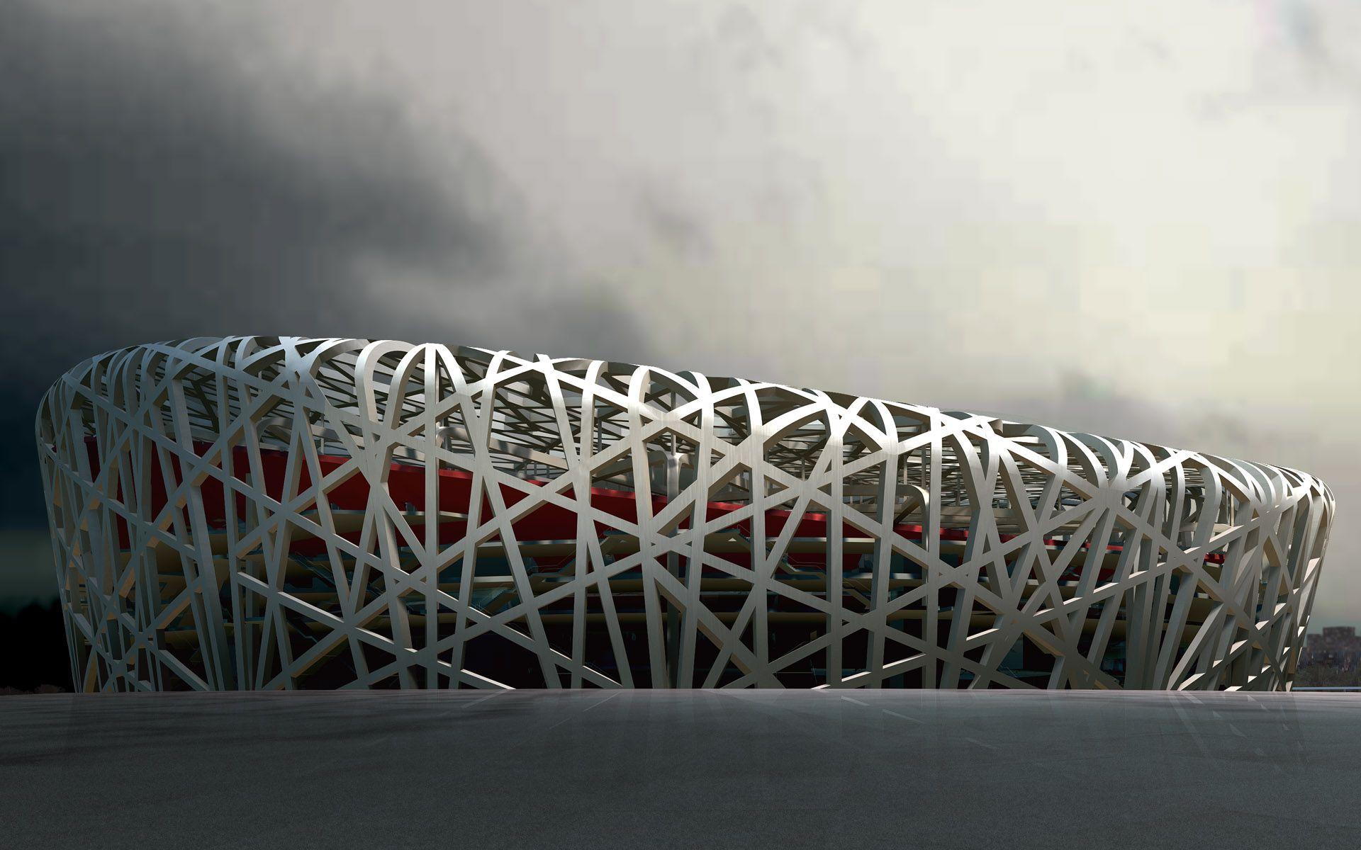 China Beijing photo manipulation Birds Nest Stadium wallpaper