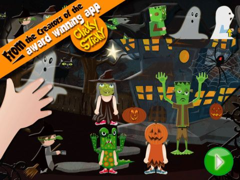 clicky sticky halloween app for kids