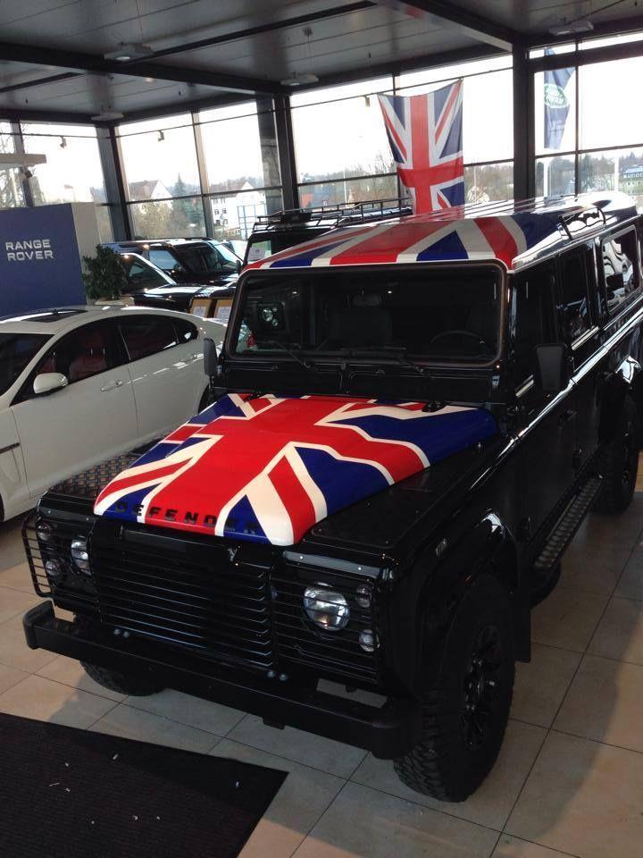 Union jack Defender 110 | Trucks & SUVs | Land rover defender, Car