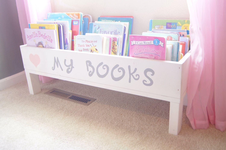 Nursery Book Shelf Baby Storage Bin Kids