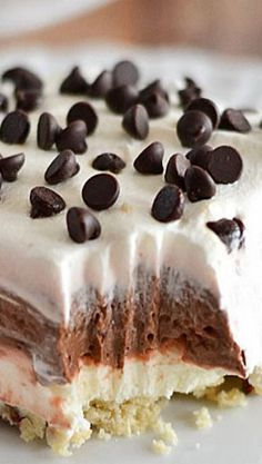 Chocolate, cream cheese, Cool Whip, and pecans are the perfect combination in this easy to make Chocolate Lush.