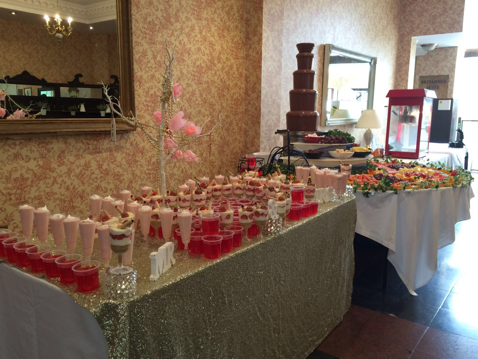 Pudding in the foyer asianwedding Britannia Royal Court Hotel