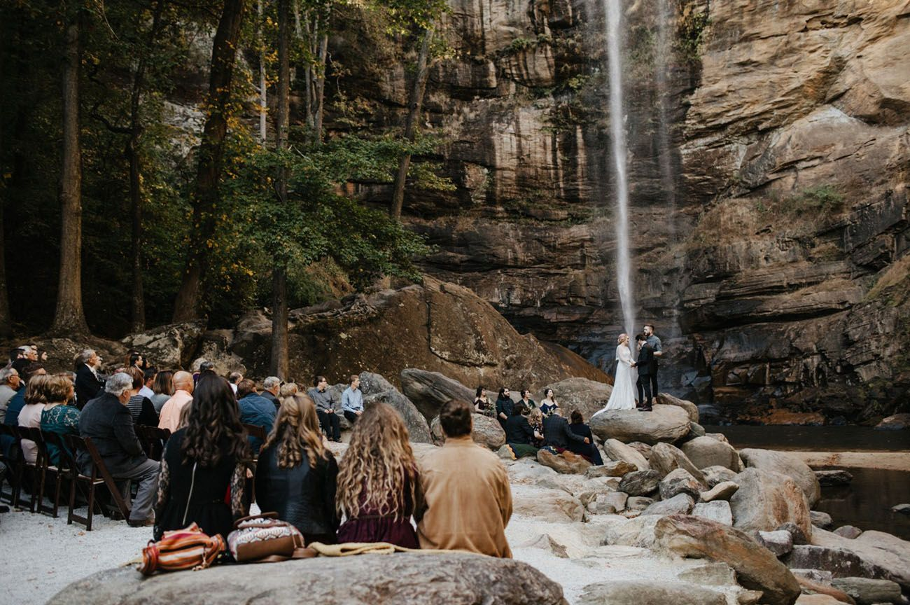 This Waterfall Wedding Overflows With Sweet Details Waterfall