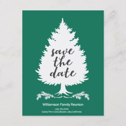 ddcb7c832 Family Tree Reunion Save The Date Announcement Postcard - invitations  custom unique diy personalize occasions