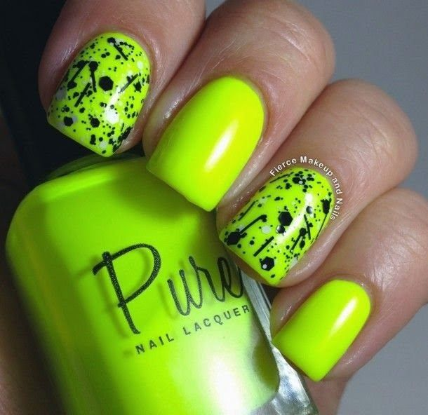 decorando uñas de neon con negro | Nails | Pinterest | Neón, Colores ...