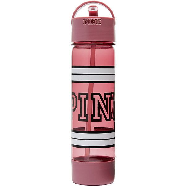 PINK Campus Water Bottle ($17) ❤ liked on Polyvore featuring blue and water bottles