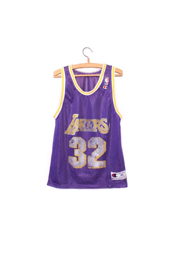 7c7f832cd83 Vintage Champion Lakers Basketball Jersey / by MrSmithVintage, $35.00