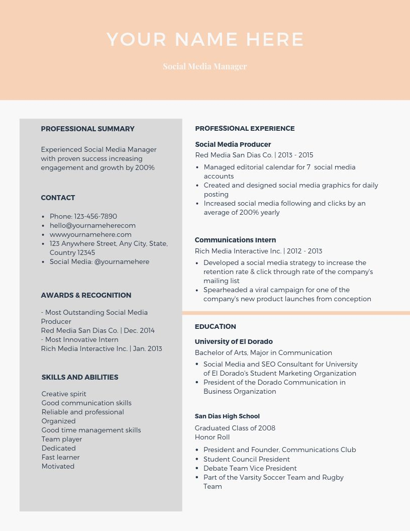 Modern Resume & CoverLetter Template by careerboutique on