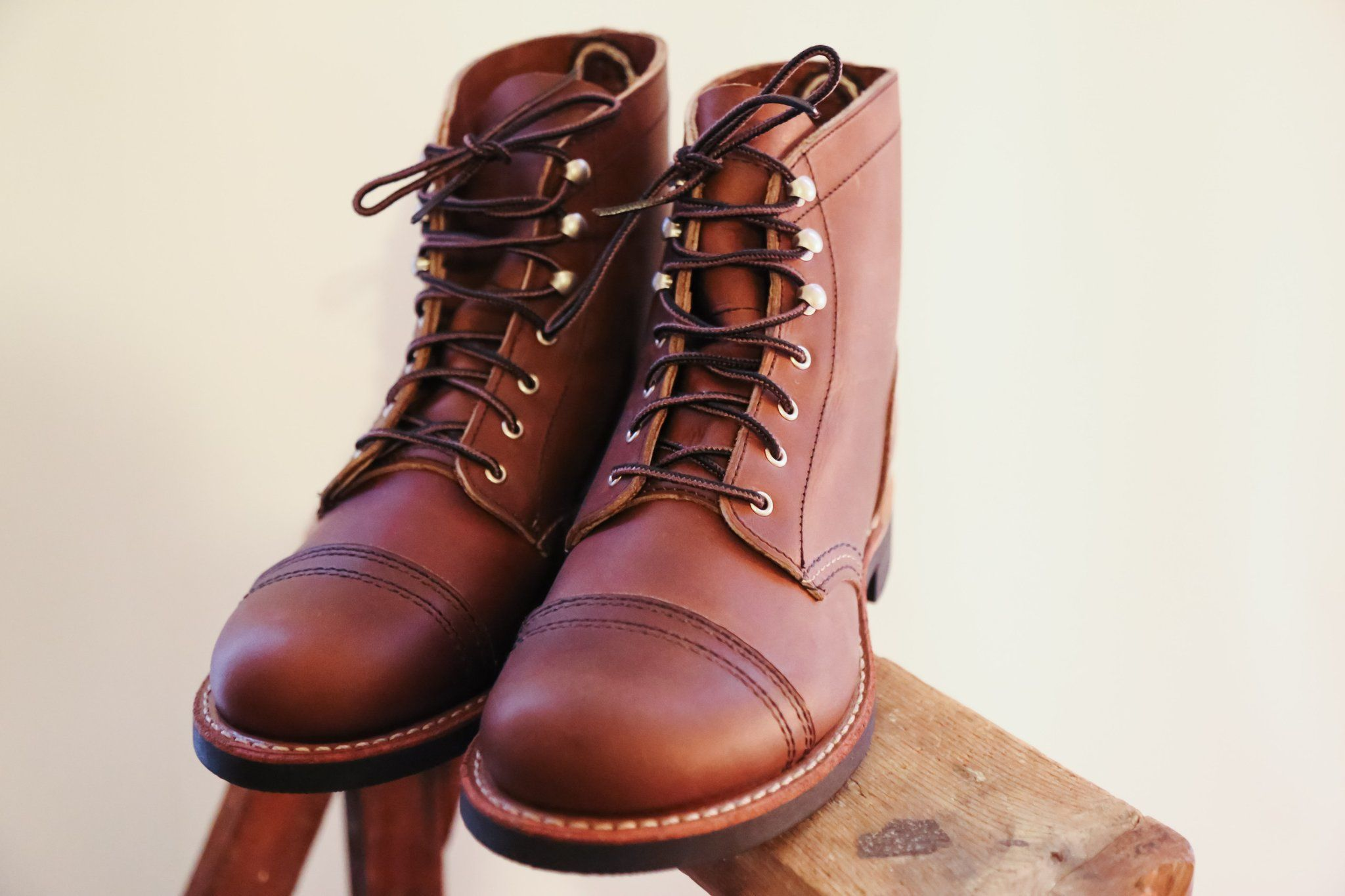 Red Wing 3365 Iron Ranger In Amber Harness Shoes And Co