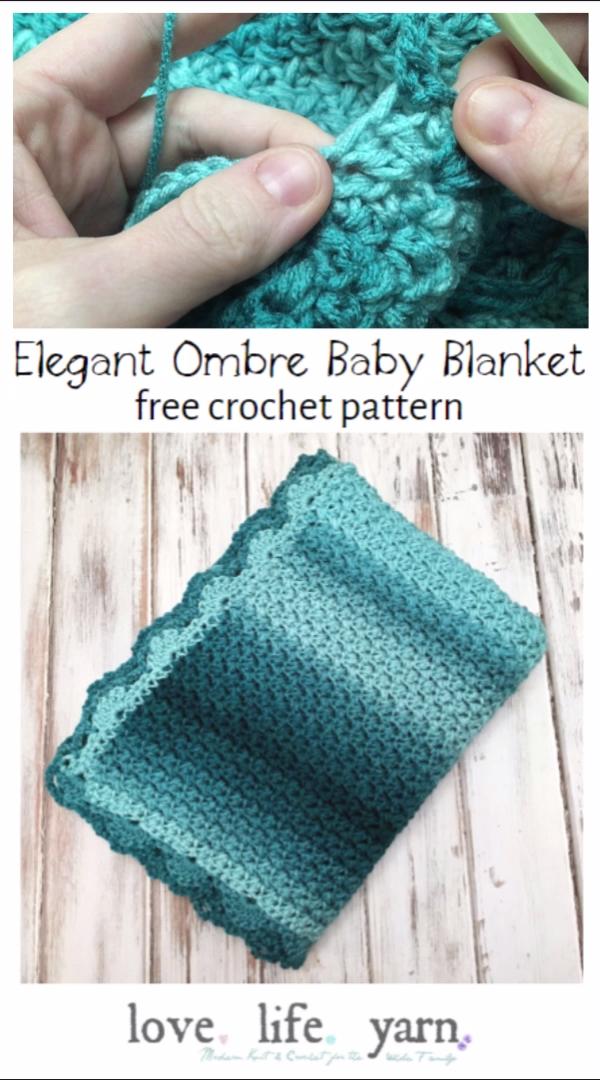 Photo of How to Crochet: Elegant Ombre Baby Blanket