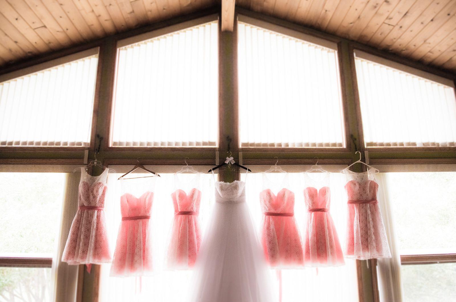 Dresses.  Bride and Bridesmaids.