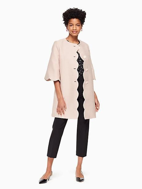 631bdd9f99c Kate Spade Scallop Tweed Coat