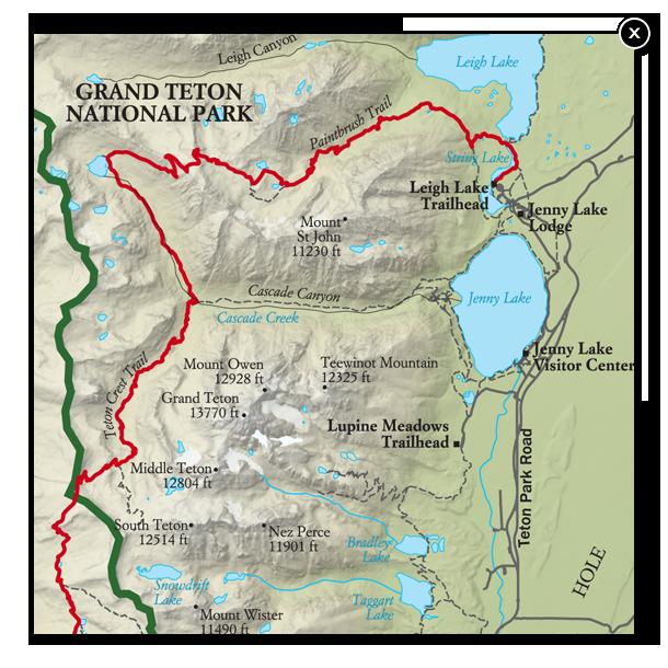 Best Grand Teton National Park Hike, Trail Map -- National ...