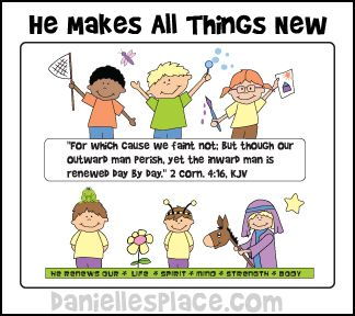 New Year S Crafts And Learning Activities For Children Bible Lessons For Kids Sunday School Sunday School Object Lessons