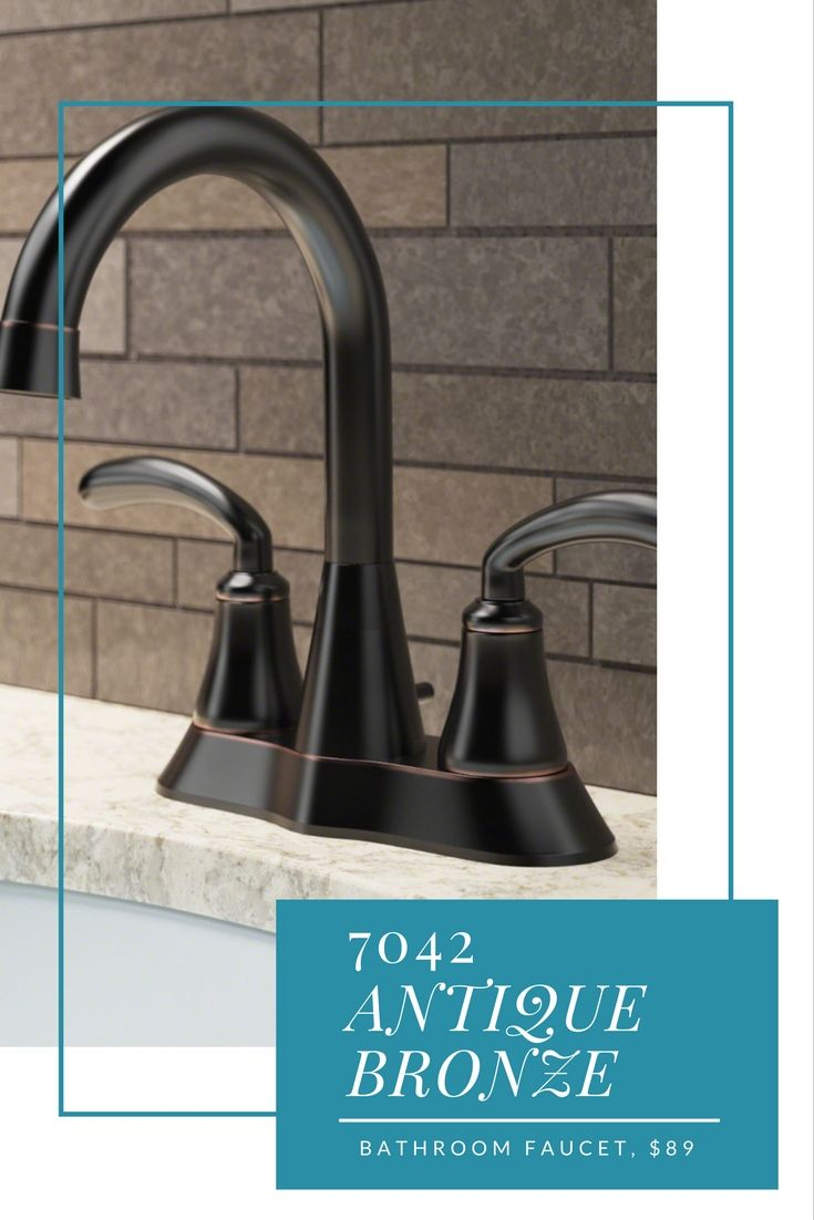 One faucet, three different looks! Bathroom faucets in a variety of ...