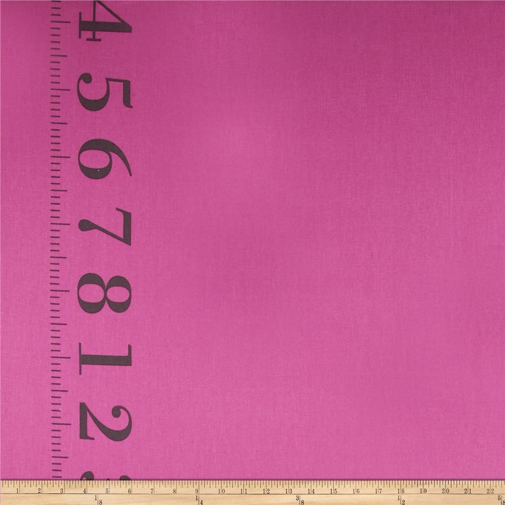 "Kokka Canvas Ruler Border Print Pink from @fabricdotcom  Designed by Kokka, this medium weight (6 oz./square yard) cotton canvas fabric is perfect for toss pillows, window treatments, bed skirts and some light upholstery. It features 7.5"" borders printed vertically along both selvedges. Colors include pink and grey."