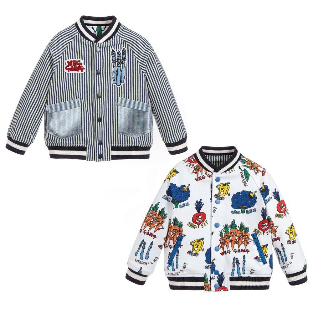 Stella Mccartney Kids Reversible satin & cotton bomber jacket | Luisaviaroma