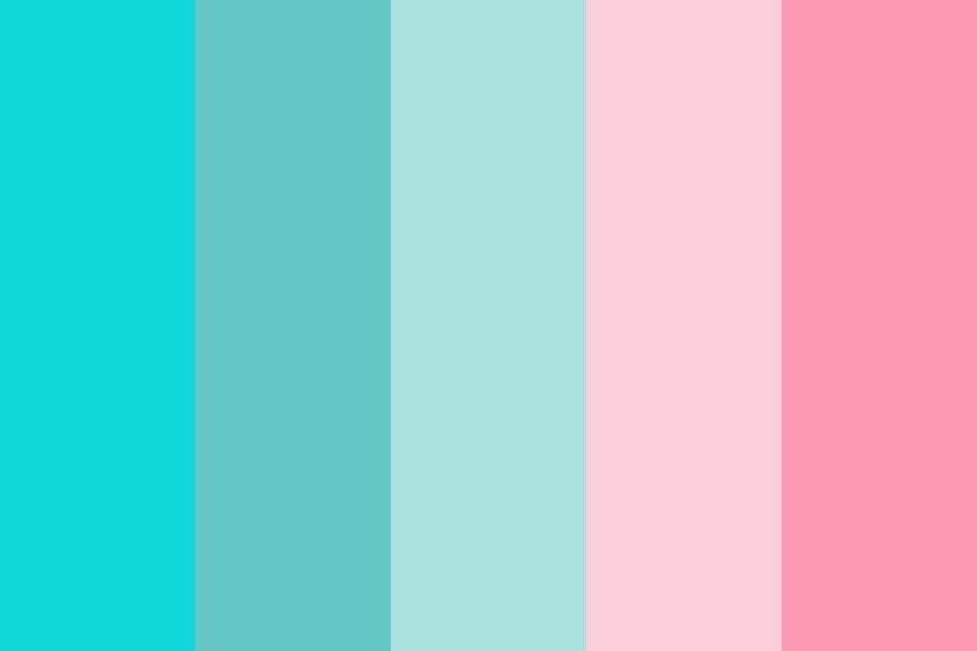 Aqua Pink Color Palette In 2020 Color Palette Pink Aqua Color Palette Retro Color Palette