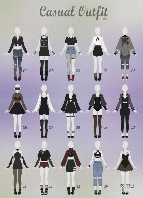 (CLOSED) CASUAL Outfit Adopts 24 by Rosariy on DeviantArt #clothesdrawing