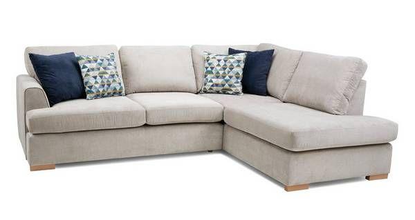 Omnia Left Hand Facing Arm Open End Deluxe Corner Sofa Bed Corner Sofa Bed With Storage Corner Sofa 2 Seater Corner Sofa