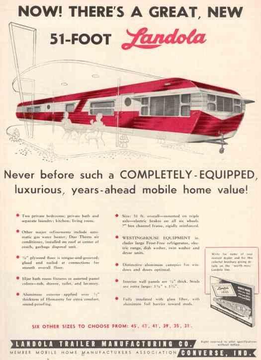 1954 Landola travel trailer -- it's 51 feet long!
