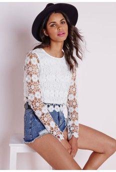 d5cf79b7cff06 Crochet Floral Crop Top White
