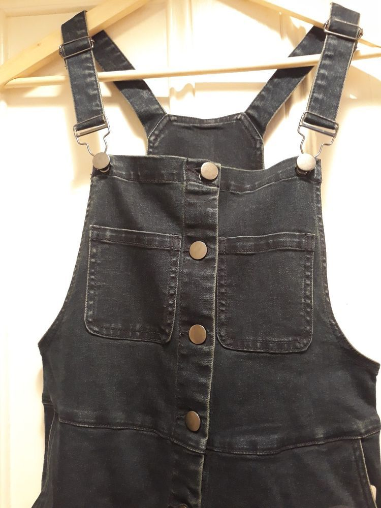 56a7818fce8 BNWT Sainsbury s Tu Dark Denim Dungaree Pinafore Dress Size 10  fashion   clothing  shoes