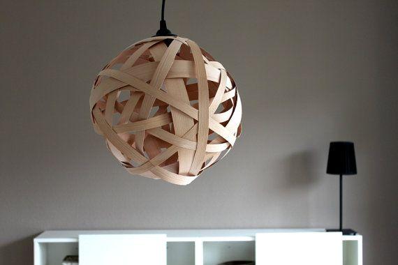 Kronleuchter Textilkabel ~ Lampe timber design holz leuchte textilkabel 32cm auf etsy 74 90