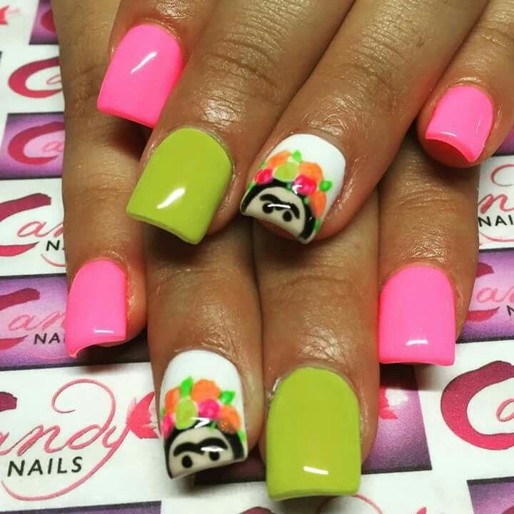 Frida Kahlo   Uñitas   Pinterest   Art nails, Beauty nails and Nail nail