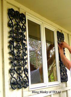 Wroght Iron Shutters Exterior Shutters Diy Shutters Exterior Iron Door Decor
