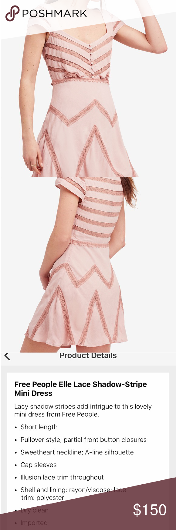 Free People Womens Elle A-Line Mini Dress