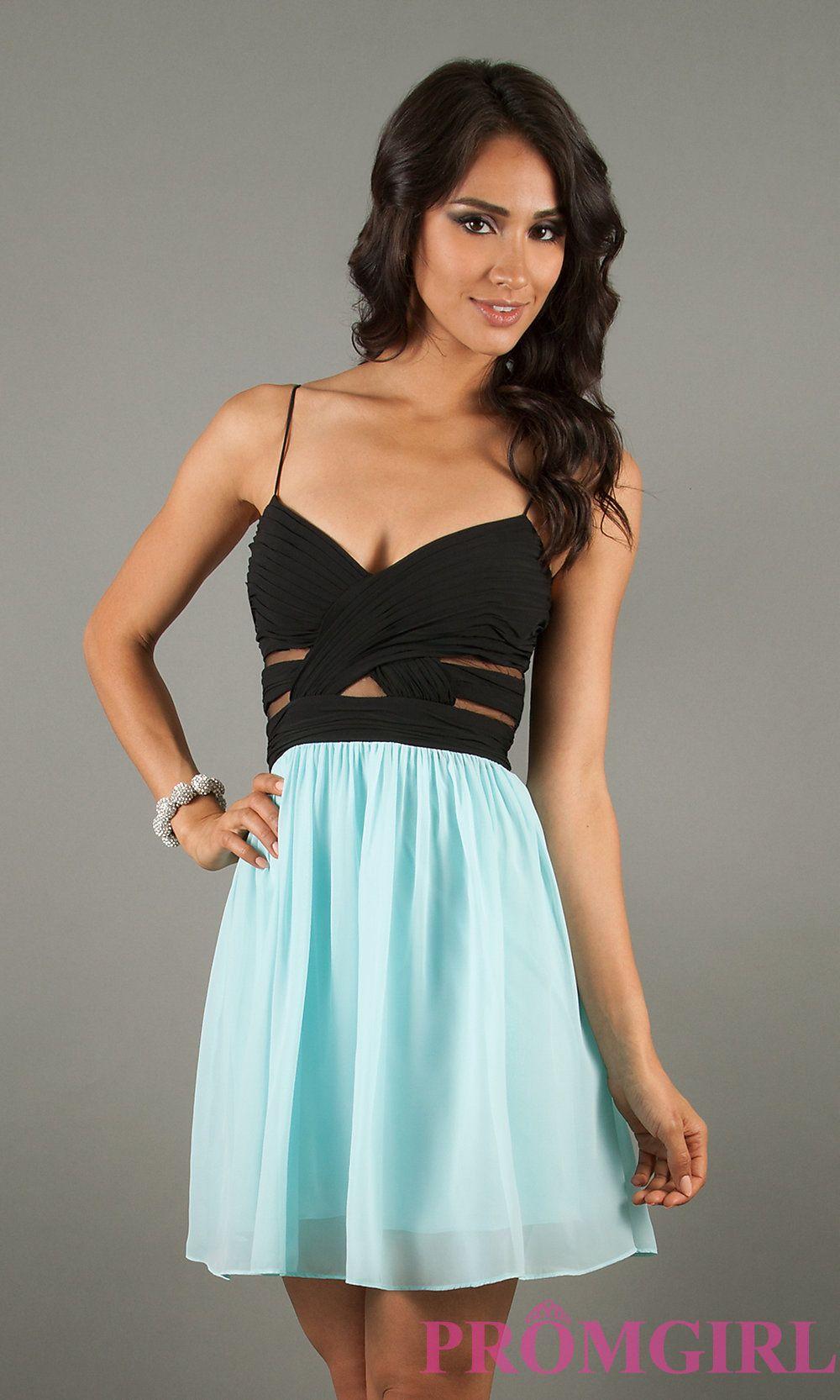 Short Spaghetti Strap Dress, Hailey Logan Short Dresses ...