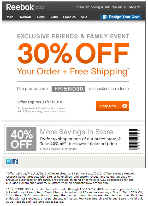 reebok outlet store coupon