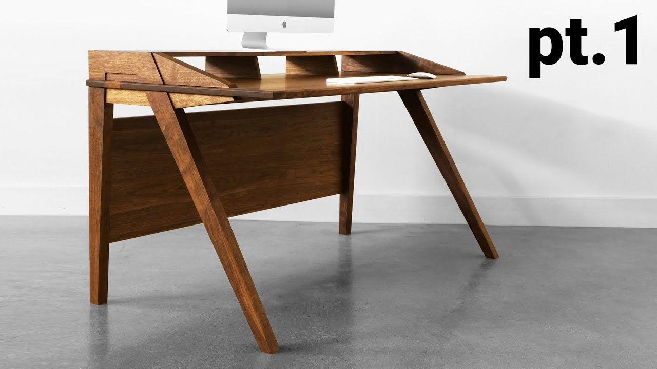 How To Build A Desk Mid Century Modern Desk Build Part 1 The Base Mid Century Modern Desk Mid Century Desk Modern Desk