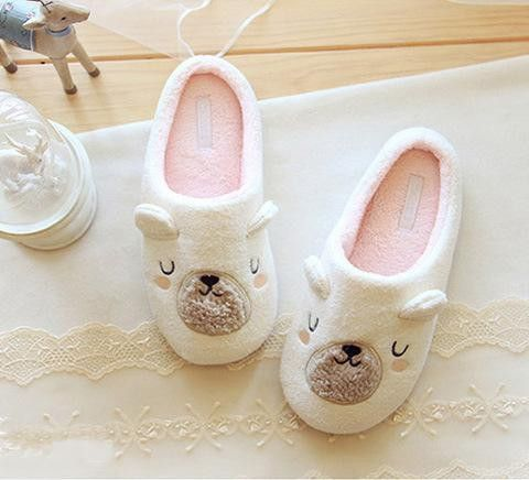 Cute Animal Cartoon Women Winter Home Slippers For Indoor Bedroom House Plush…