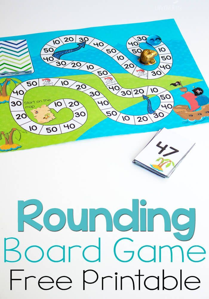This free printable pirate board game for rounding to the nearest ...