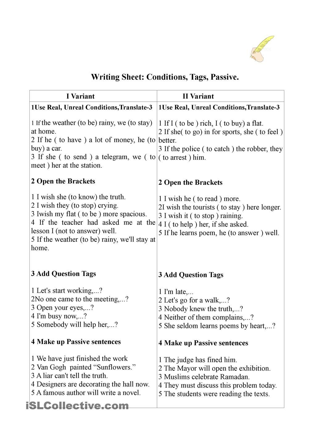 Working Sheet Condition Tags Passive Conditioner Conditional Sentence Passive [ 1440 x 1018 Pixel ]