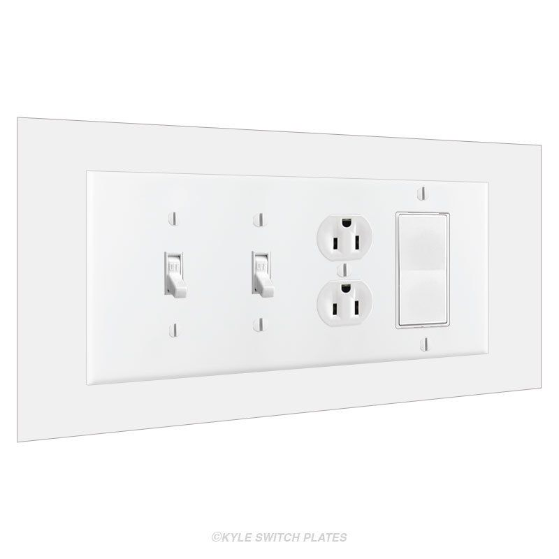 4 Gang Wall Guard Switch Plate Expander 10x6 New House