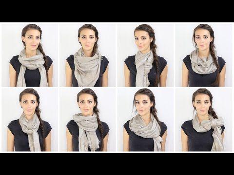 Tuto Comment porter une écharpe ou un foulard  How to wear a scarf ... fe18403a2dd