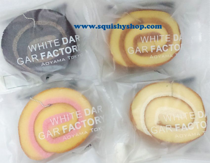 Super kawaii replica version Aoyama cream rollcake squishy with original packaging Size