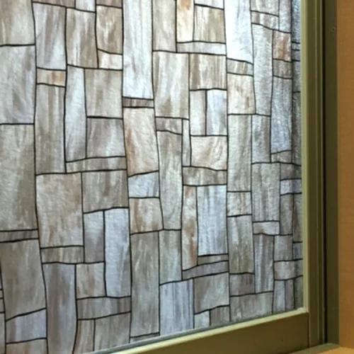 窓 ガラスフィルム 目隠し シート フィルム 水だけ簡単に貼れる