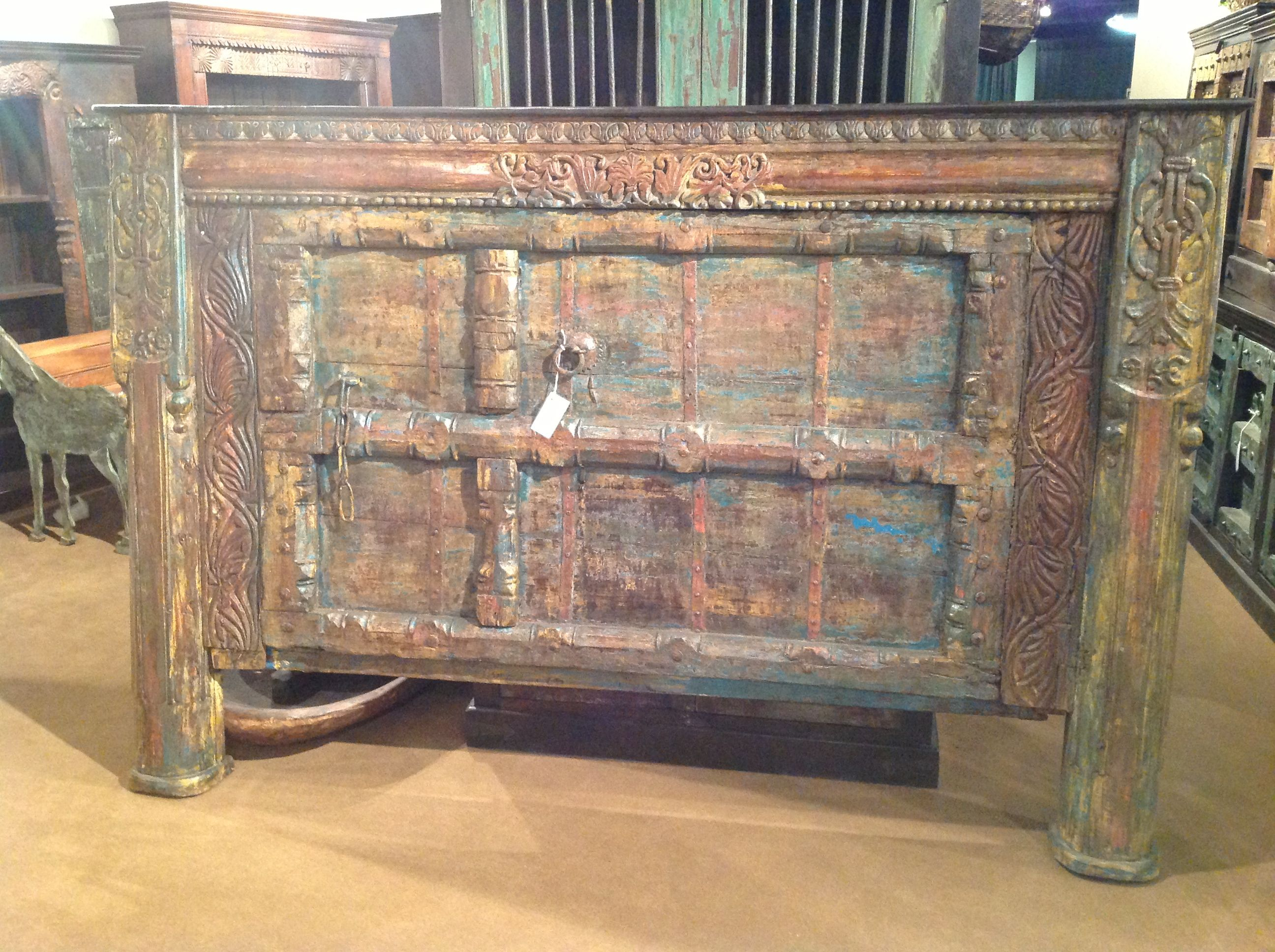 Fabulous king headboard made from old doors from india ask about