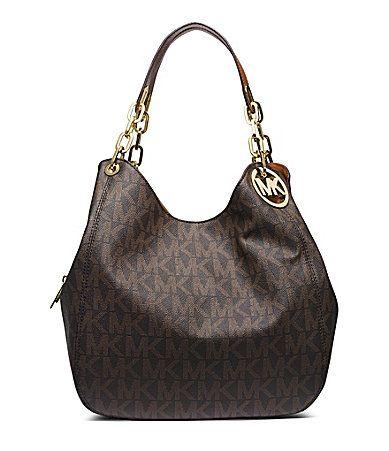 MICHAEL Michael Kors Signature Fulton Large Shoulder Bag #Dillards