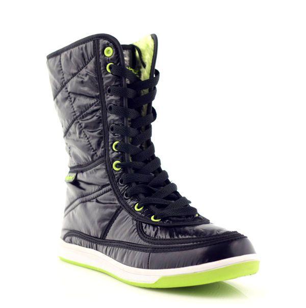 Mcarthur Sniegowce Sportowe Na Futerku Zielone Czarne High Top Sneakers Top Sneakers Shoes