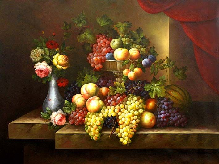 Classic Still Life Paintings | Classic Fruit Still Life ...