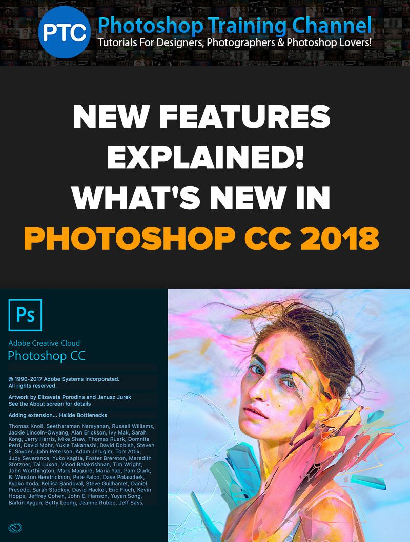 Photoshop CC 2018 Tutorials – What's NEW in Adobe Photoshop