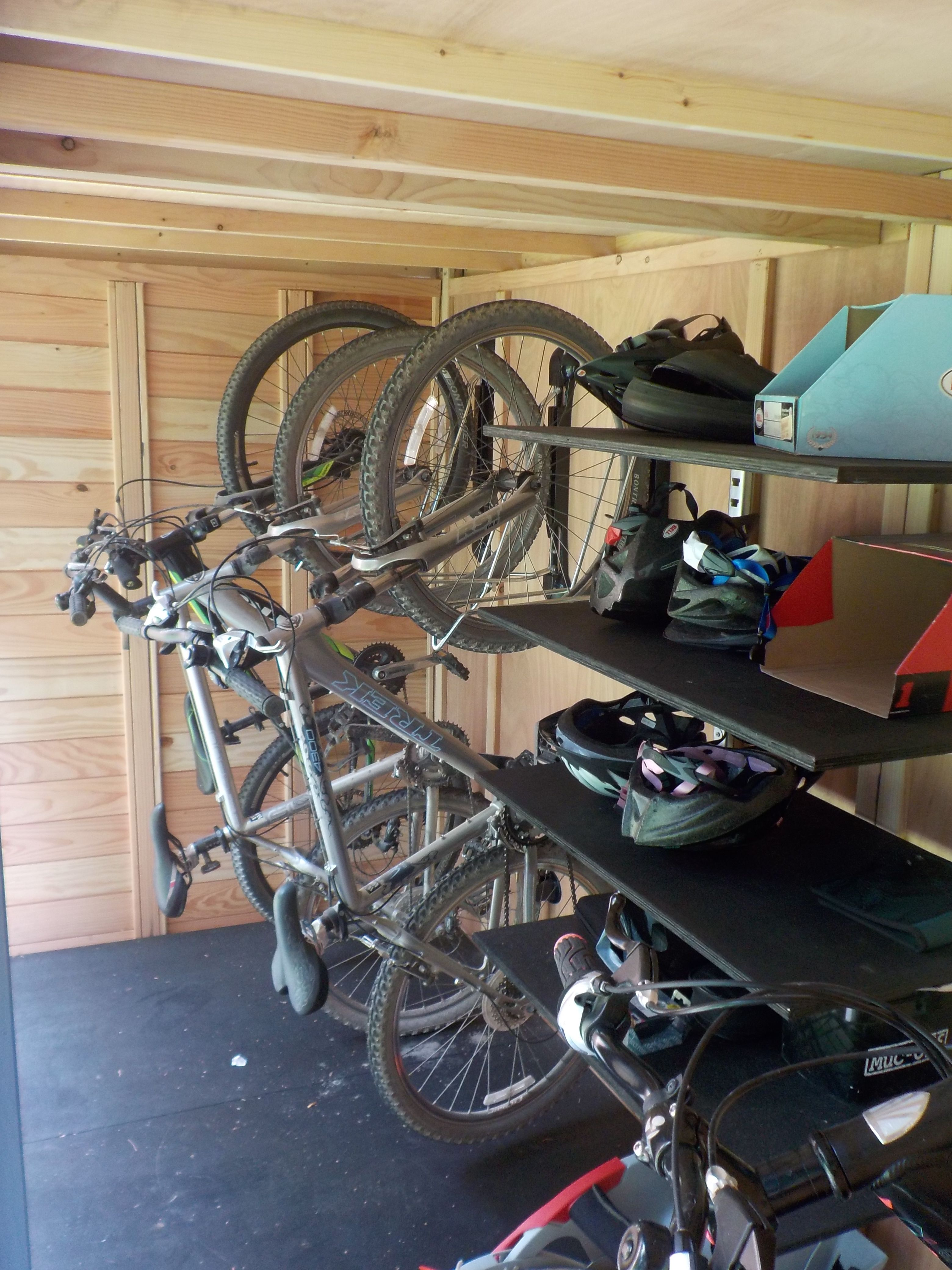 A Great Way To Store Bikes If Your Front Garden Or Other Space Has
