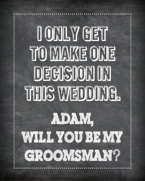 Popping The Question A Thoughtful Print Out Is Great Way To Ask Your Groomsmen And Bridesmaids Be In Wedding