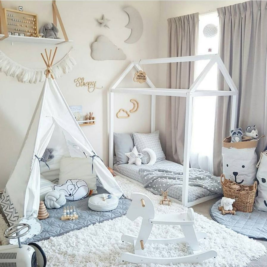 Top 7 Nursery Kids Room Trends You Must Know For 2017 Toddler Rooms Toddler Floor Bed Toddler Bedrooms